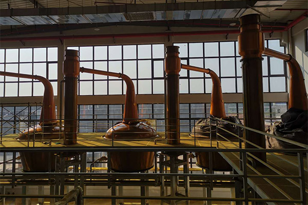 Trial operation of phase I and production in commission for Goalong Distillery