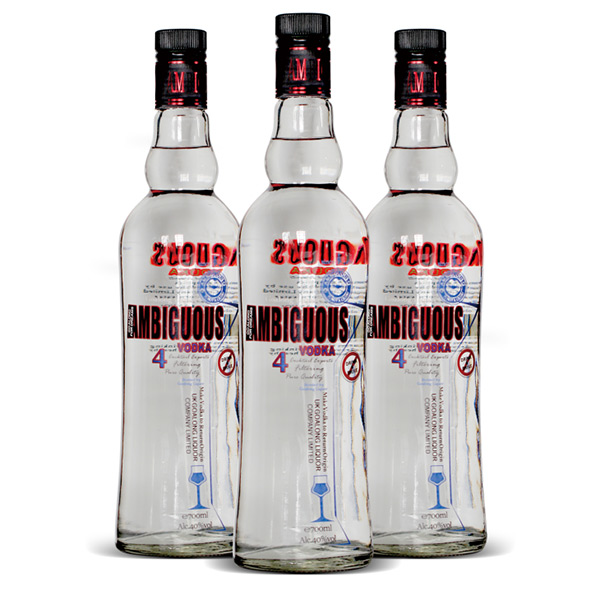 Ambiguous vodka 700ml 40%abv
