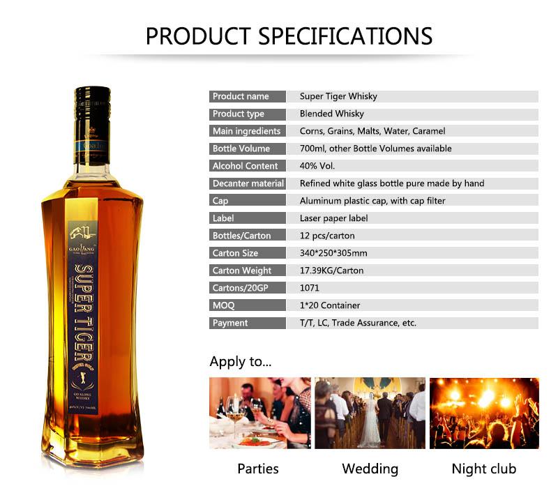 Goalong Super Tiger whisky 700ml 40% abv