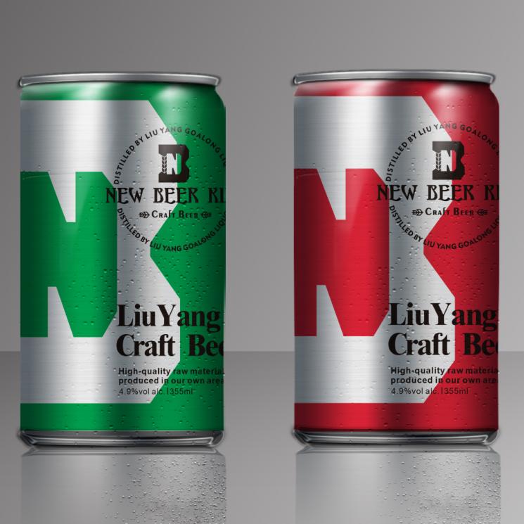 Nuwe bierring kan handwerkbier 355 ml 4.9% vol bottel bottel